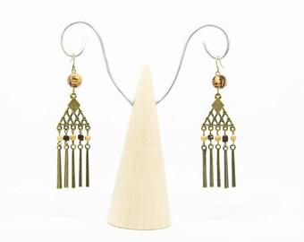 Nature triangle earrings