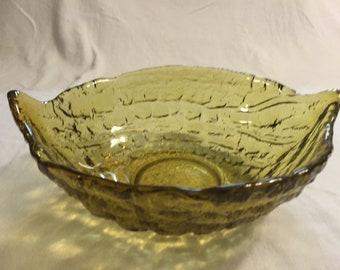 Tiara vintage glass Aloha serving bowl