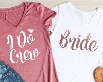 298d0ce2b0 i do crew bridesmaid shirts, bridesmaid v necks shirts, bachelorette party,  wedding party shirts, arrow tank tops, bridesmaid proposal gift