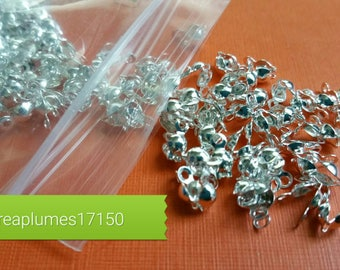 10g or about 150 pcs hides 8x4mm silver bows