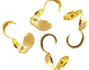 50 hidden knot gold, Golden 9x3mm