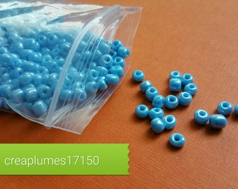 Set of 50g of blue glass Pearl 4mm seed beads