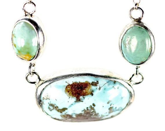 Stylish Sterling Silver Turquoise Necklace