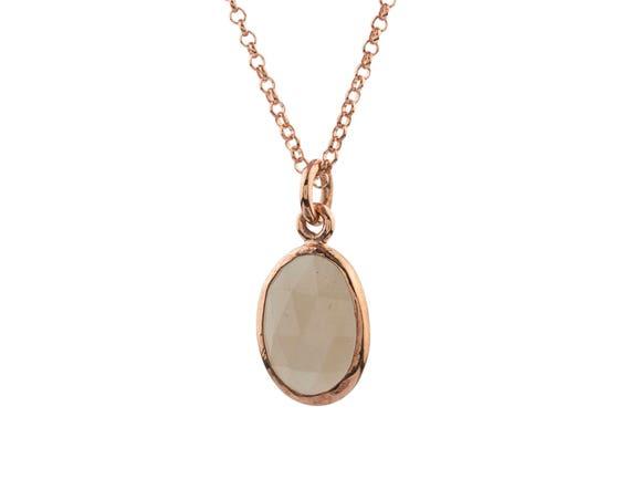 Silver  Moonstone Pendant , Rose Gold Moonstone Necklace,Natural Moonstone Necklace,Moonstone Jewelry, Sterling Moonstone ,Gift For Her