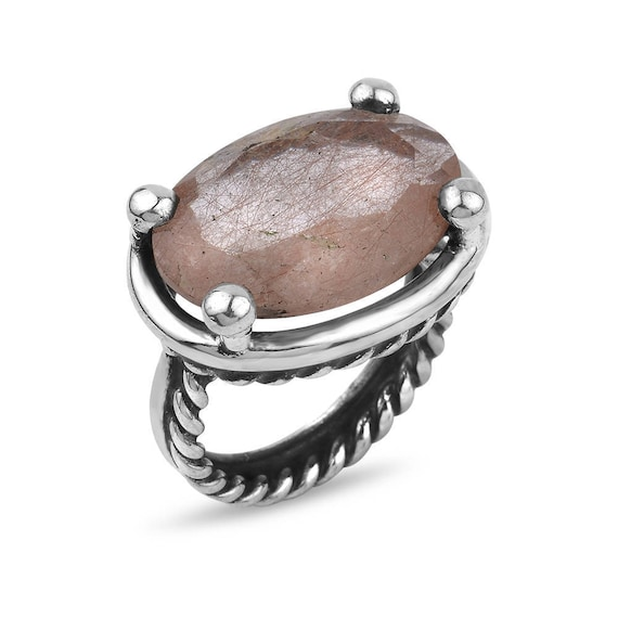 "Silver Strawberry Quartz Ring "" Jada Collection "" Gift For Her"