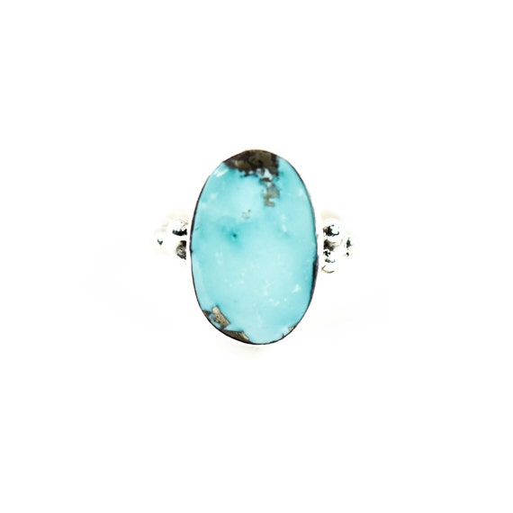 One Of A Kind  Silver Turquoise Ring