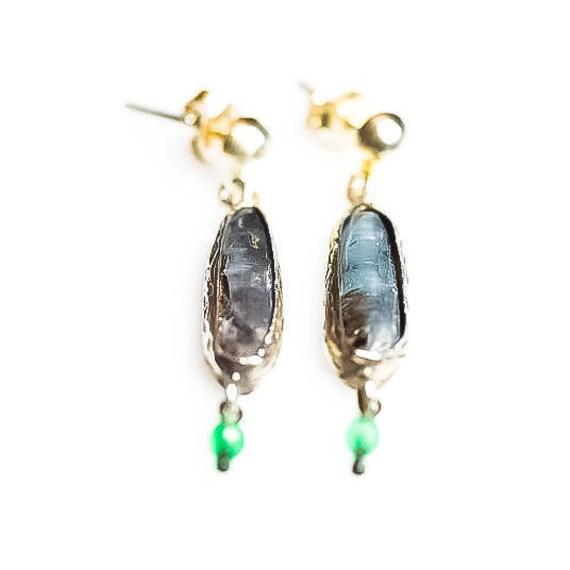 Silver Kyanite, Akik Earrings ,Simple Earrings, Kyanite Earrings, Minimalist, Green Akik Earrings,Minimal Earrings ,Gift For Her