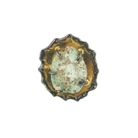 Handmade Silver Chrysocolla Ring