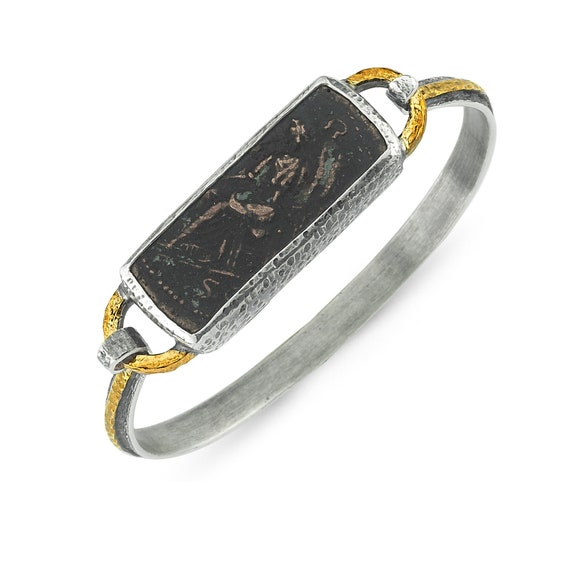 Silver One of A Kind Custom Ancient Bracelet