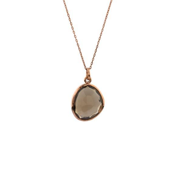 Silver Smoky Quartz Pendant, Quartz Necklace, Smoky Quartz Necklace, Minimalist Quartz Necklace, Natural Smoky Quartz Necklace, Gift For Her