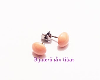 Grade 1 pure titanium earrings with Swarovski