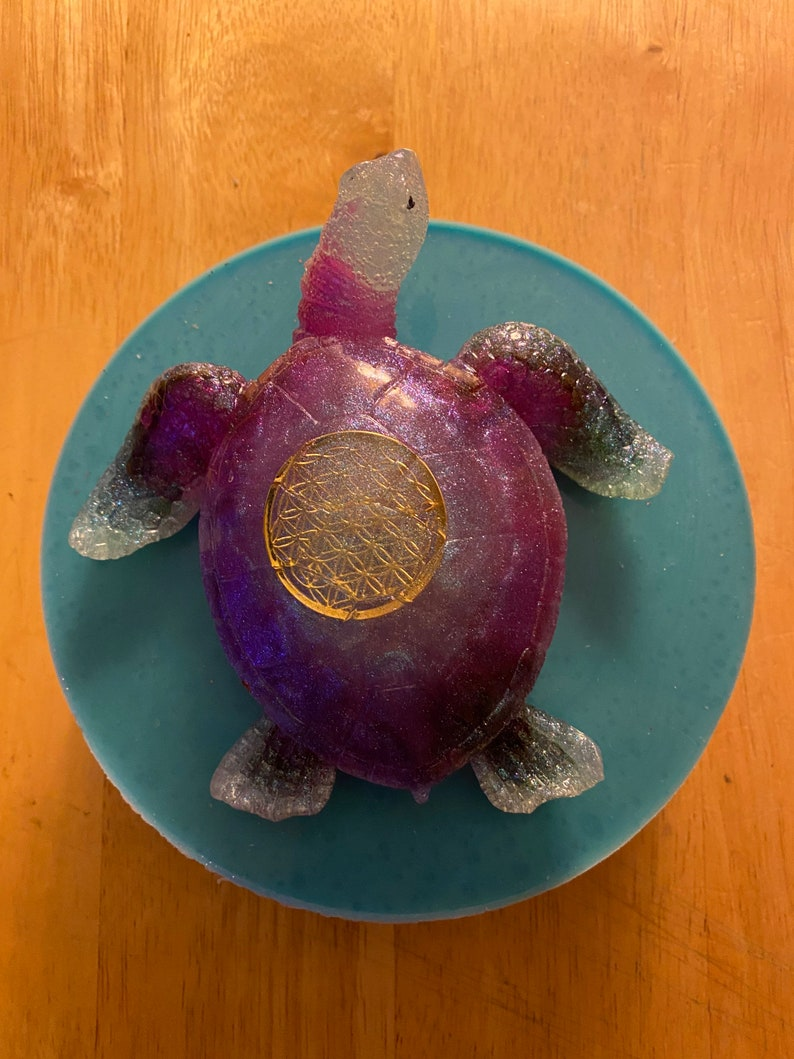 Extra large detailed sea turtle mold
