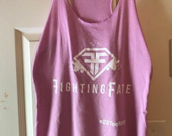 Fighting Fate Ladies Racerback Tank Top