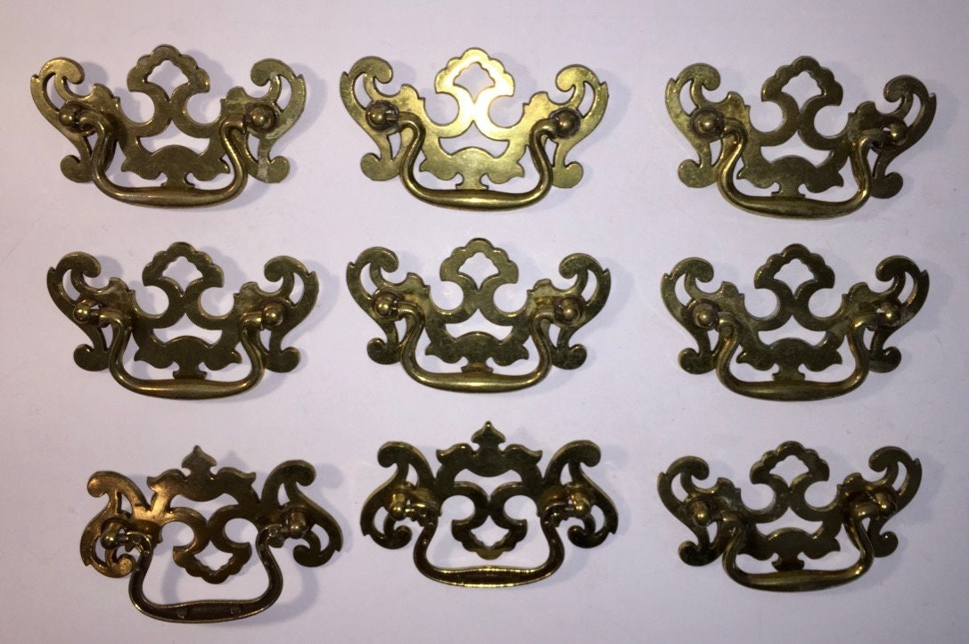 Fancy Colonial Drawer Pulls   Etsy