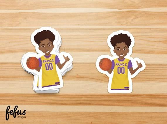 BOYS BASKETBALL Die Cut Stickers Natural Hair Black Boy | Etsy