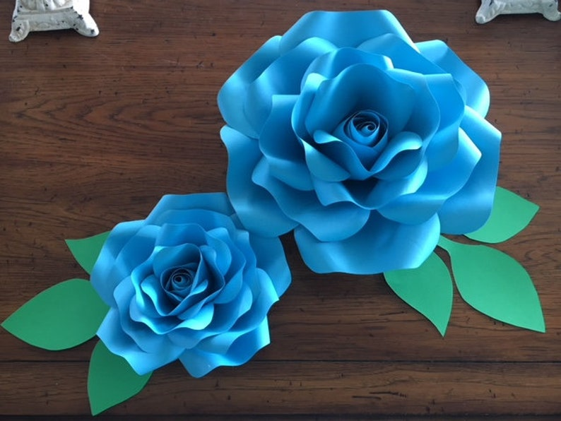 Large Paper Flowers Flower Template Paper Rose Giant Paper Flowers Large Size Paper Flowers Wedding Pdf For Hand Cutting Paper Roses Lr1