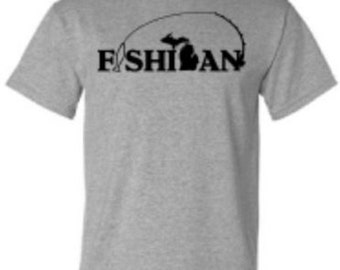 Michigan Fishing Shirt Fish Michigan Fisherman Gift Tee