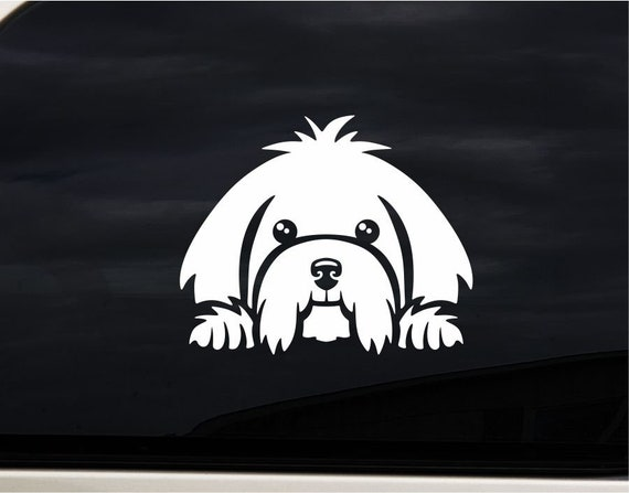 MALTESE HEARTBEAT Sticker Live Love Heart Decal Toy Dog Breed Adopt Cute Puppy