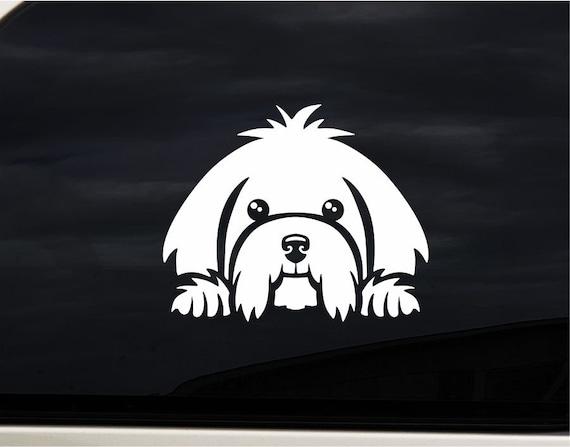 MALTESE BODY DOG CUTE FUNNY DECAL STICKER ART CAR WALL DECOR