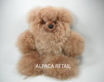43d9f03a791b 12 IN Alpaca Fur Teddy Bear Real Alpaca fur-Stuffed Toy -Peruvian Toy from  Artisans Alpaca Stuffed Animals