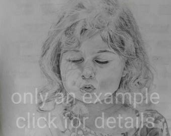 Commission me to make a graphite pencil portrait