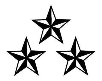 Star Decals - Set of three