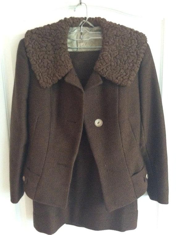 Rare Vintage 60's Wool Skirt Suit