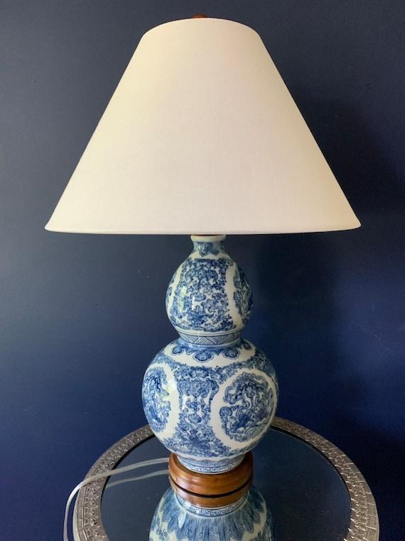 Ralph Lauren Vintage Inspired Zen Koi, Ralph Lauren Blue And White Dragon Lamp