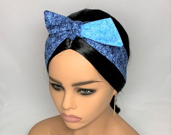 Blue Swirl Tie Headband