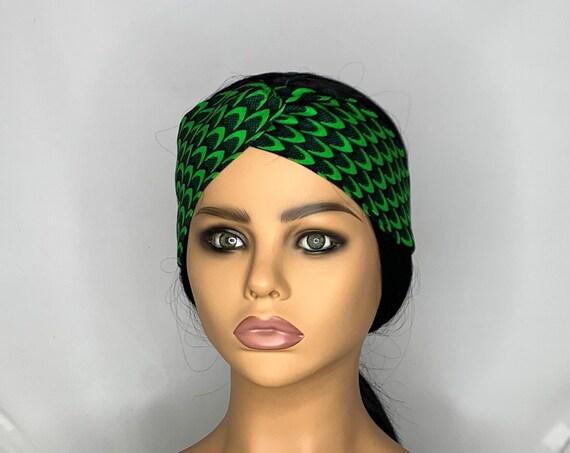 Green Leaves Twist Turban Headband