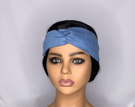Denim Twist Turban Headband