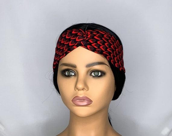 Red Leaves Twist Turban Headband