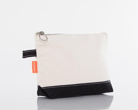 Black Monogrammed Makeup bag