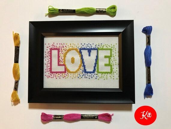 Love Cross Stitch Kit