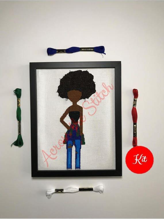 Girl Cross Stitch Kit - Nyla