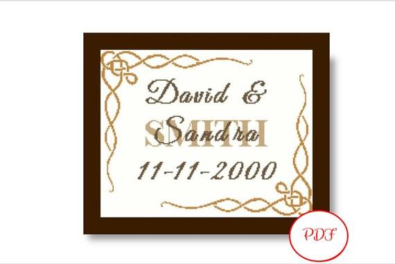 Married Cross Stitch Pattern - PDF Download