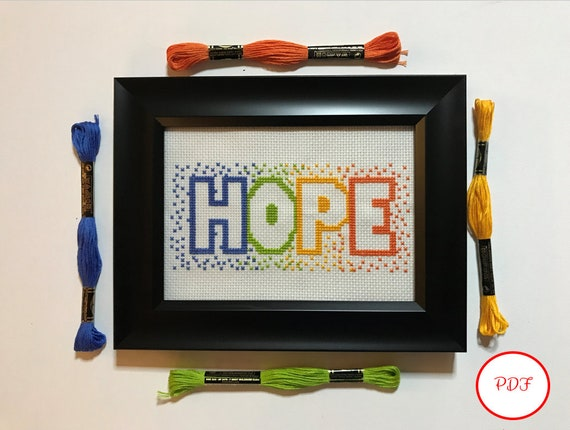 Hope Cross Stitch Pattern - PDF download