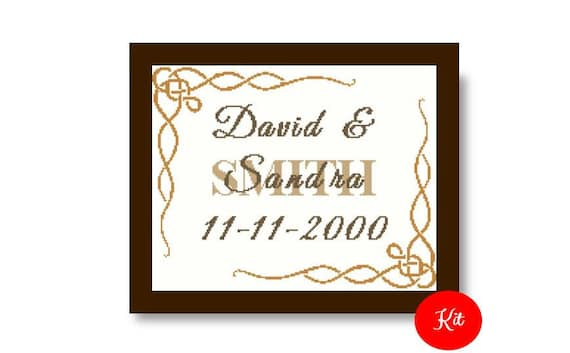 Married Cross Stitch Kit