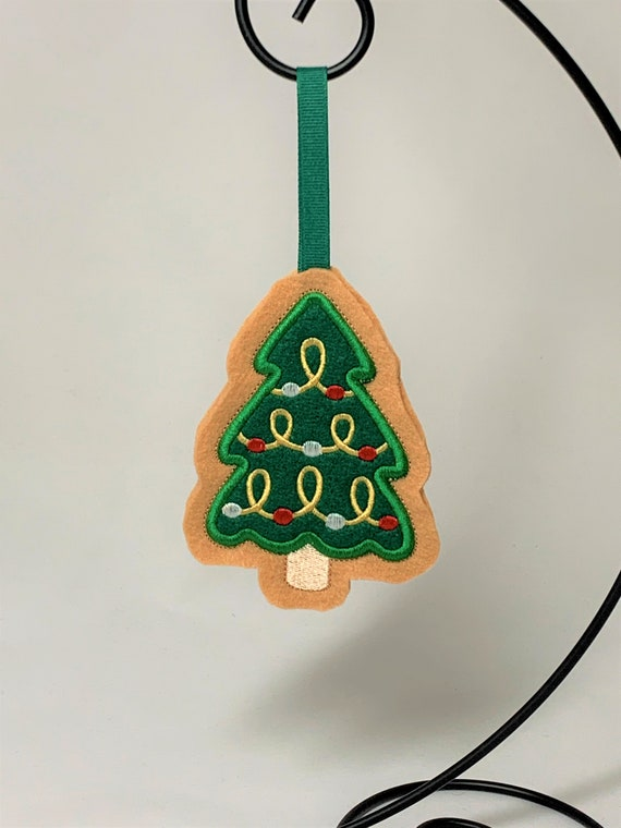 Embroidered Cookie Christmas Tree Ornament