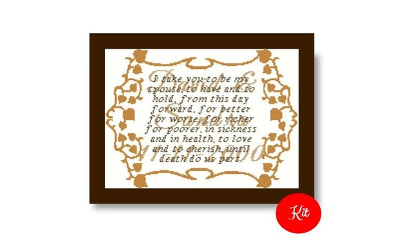 Marriage Vows Cross Stitch Kit