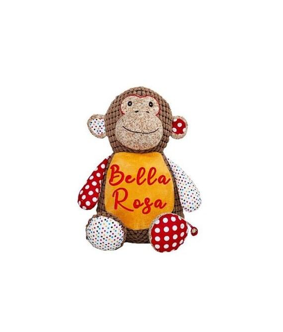 Personalized Stuffed Monkey