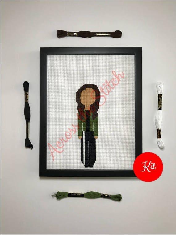 Girl Cross Stitch Kit - Isabel