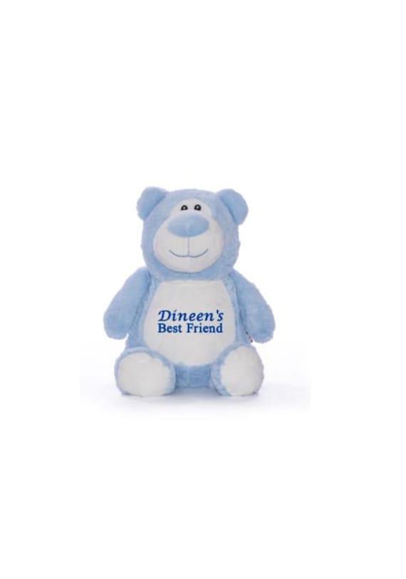 Personalized Stuffed Blue Bear