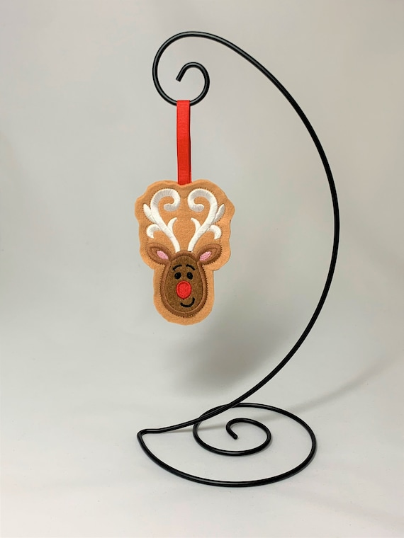 Embroidered Cookie Reindeer Ornament