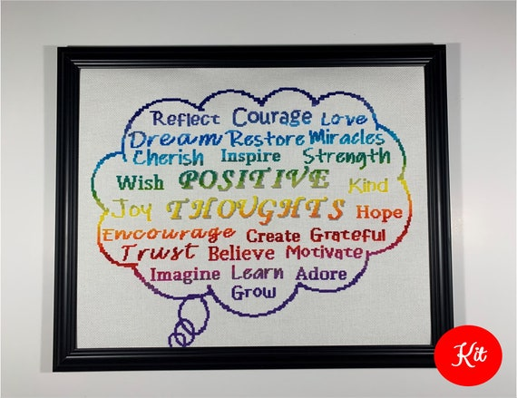 Positive Thought Bubble Kit for White fabric