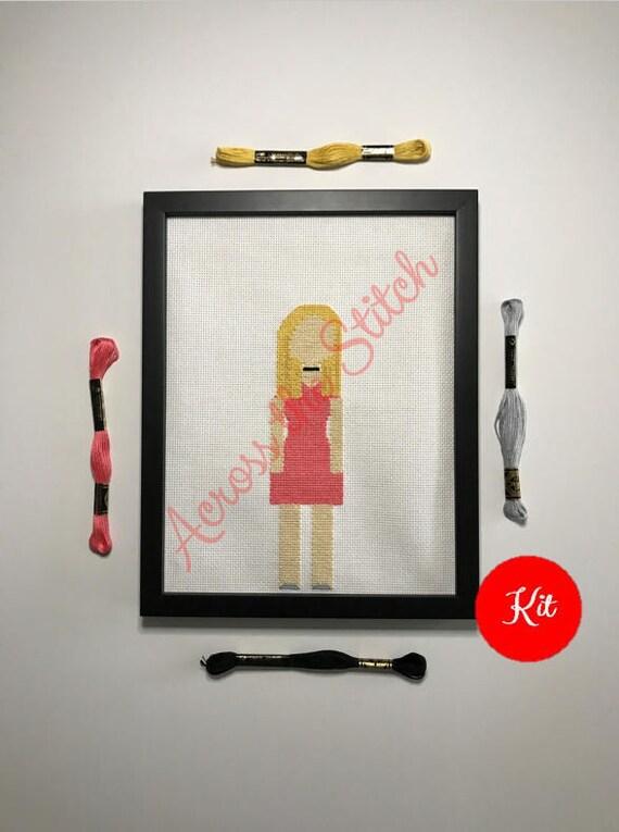 Girl Cross Stitch Kit - Sky