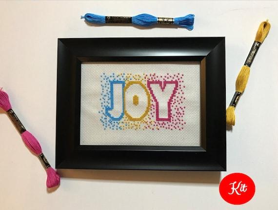 Joy Cross Stitch Kit