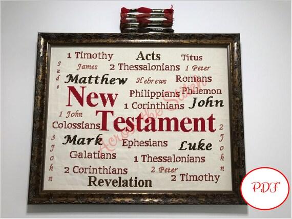 New Testament Cross Stitch Pattern - PDF download