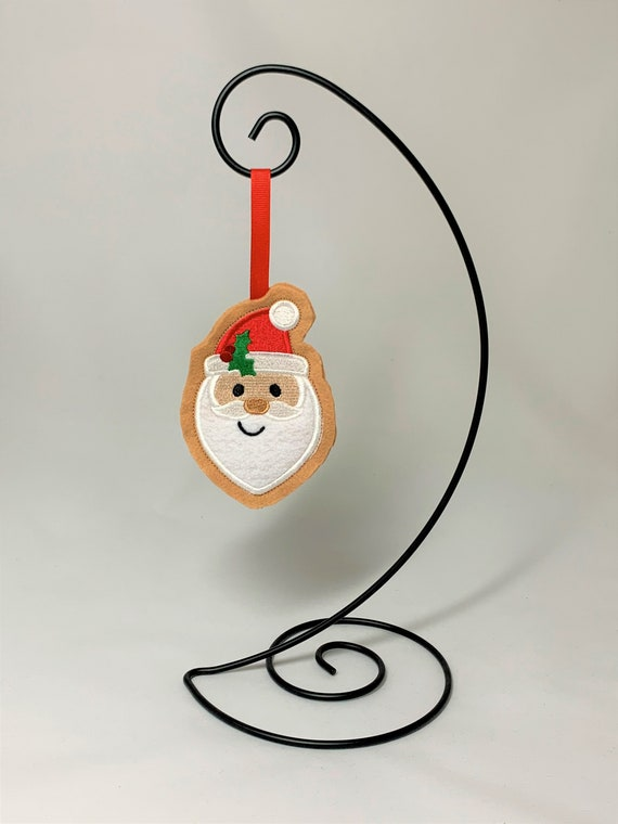 Embroidered Cookie Santa Ornament