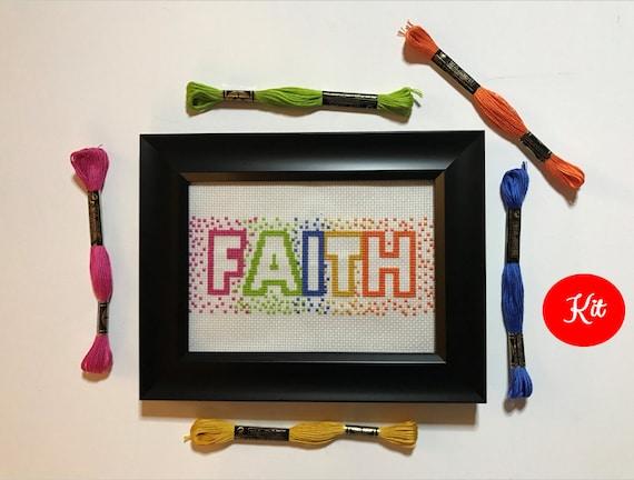 Faith Cross Stitch Kit